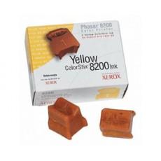 Чернила твердые Xerox 016204300 для Phaser 8200, желтый, 2*1400отп.